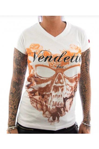 Vendetta dámské triko VD-0005 white obr1