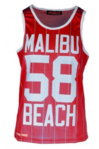 Double Red dámské tílko Womens Top Malibu 58 Red obr1