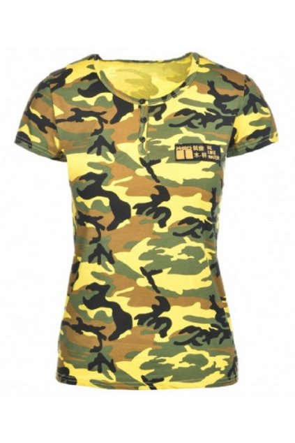 Double Red dámské T-Shirt Camodresscode Kung Fu Master Yellow obr1