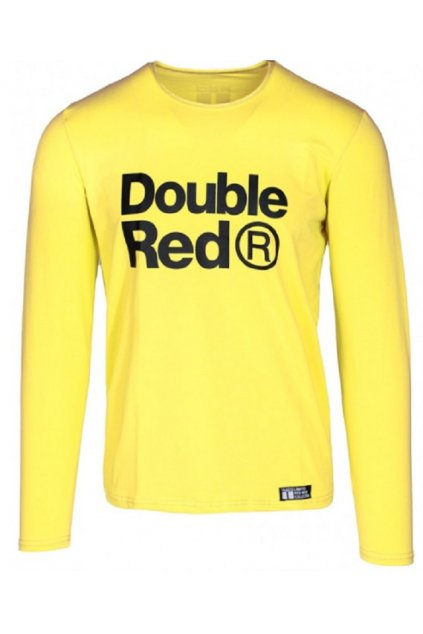 Double Red pánské triko s dlouhým rukávem Red Neon Long Sleeve Yellow obr1