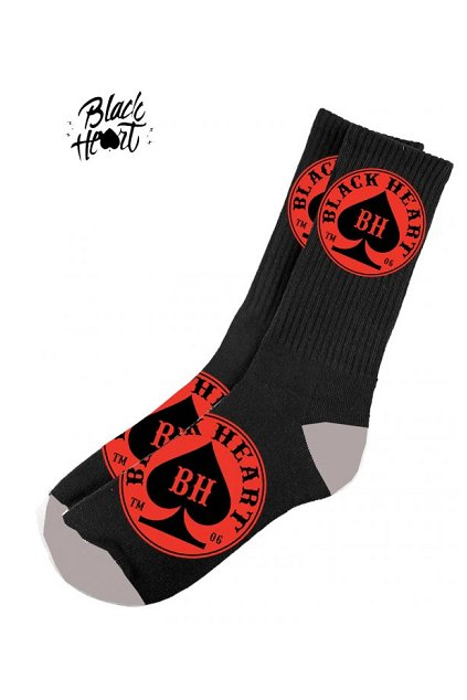 Ponožky BLACK HEART RED ACE BLACK přední strana