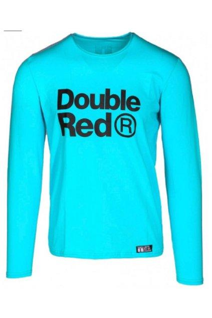 Double Red pánské triko s dlouhým rukávem Red Neon Long Sleeve Turquoise obr1