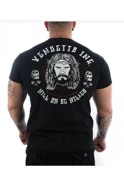Pánské triko Vendetta Inc. Jesus weiß VD-1094 Black obr1