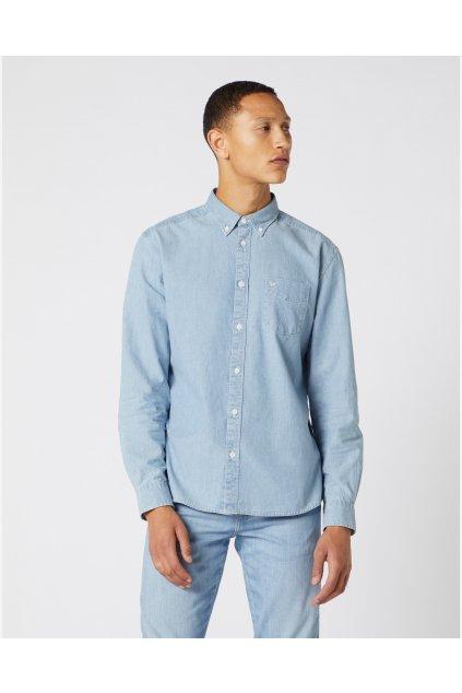 Pánská košile Wrangler LS 1 PKT BUTTON DOWN INDIGO obr1