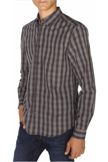 Pánská košile WRANGLER LS BUTTON DOWN SHIRT PHANTOM obr1
