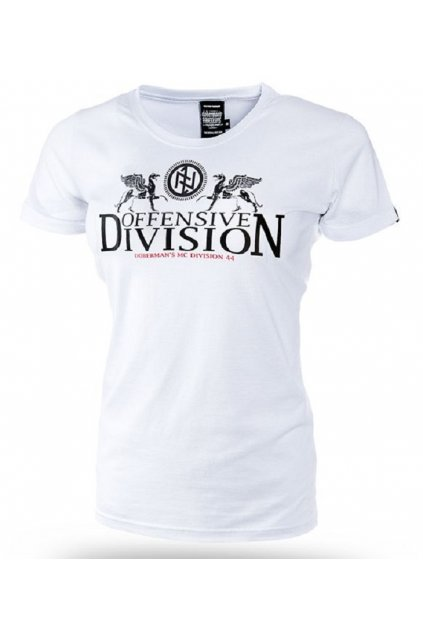 Dámské tričko Dobermans Aggressive triko GRIFFINS DIVISION bílé 233