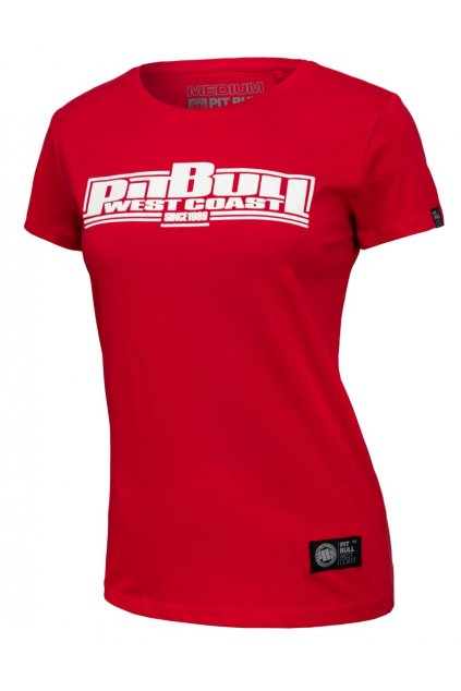 PitBull West Coast - dámské triko PitBull BOXING červené obr1
