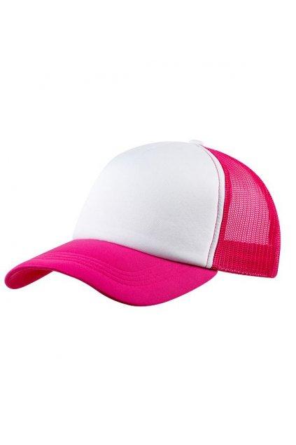 Kšiltovka CoFEE Trucker - růžová-bílá obr1