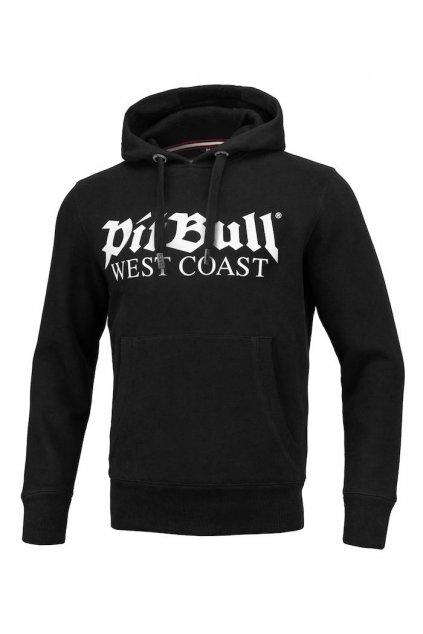 PitBull West Coast pánská mikina s kapucí OLD LOGO černá obr1
