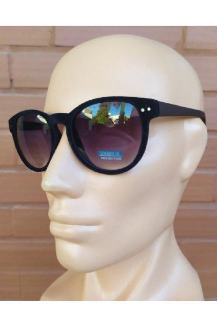 Unisex sluneční brýle semišové Black obr1