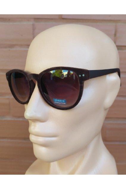 Unisex sluneční brýle semišové Brown obr1