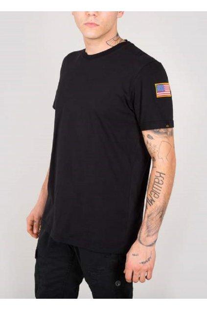 Alpha Industries NASA T black tričko pánské M přední strana