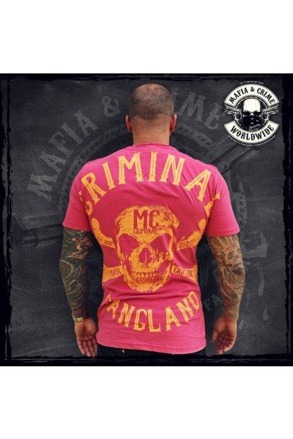 Mafia & Crime pánské triko Criminal Gangland V Neck Vintage red obr1