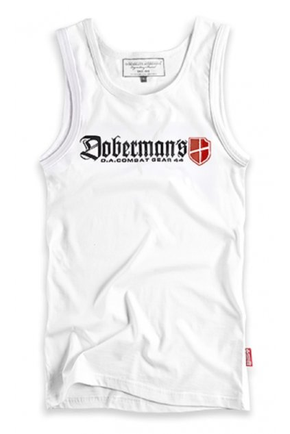 Dobermans pánské tílko DOBERMANS LOGO bílá obr1