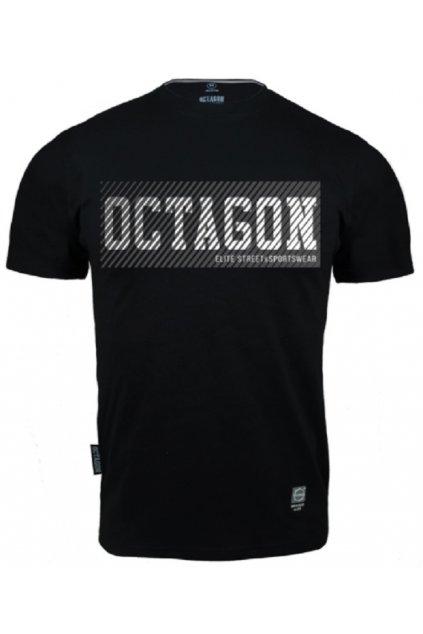 Pánské tričko OCTAGON NEW LINES BLACK obr1