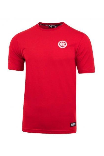 Pánské triko EXTREME HOBBY Hash Line 20 červená obr1