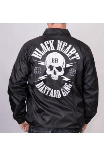 Pánská bunda BLACK HEART  BASTARD SKULL přední strana