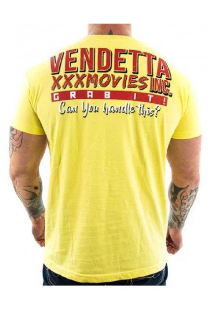 Pánské triko Vendetta XXX Movies 1048 žlutá obr1