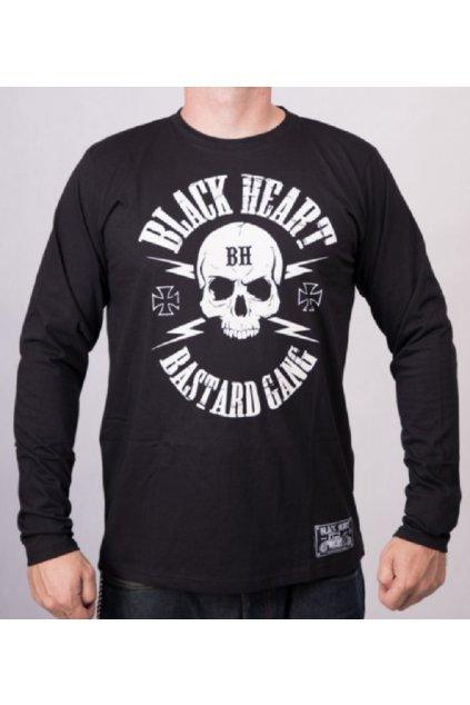 Pánské triko Black Heart Bastard dlouhý rukáv přední strana