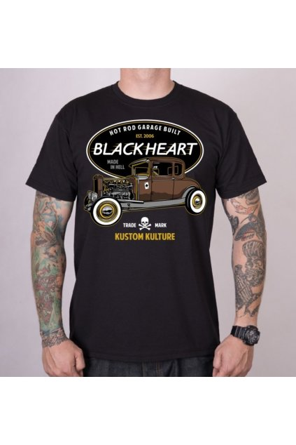 Pánské triko Black Heart HOT ROD TRADICIONAL přední strana