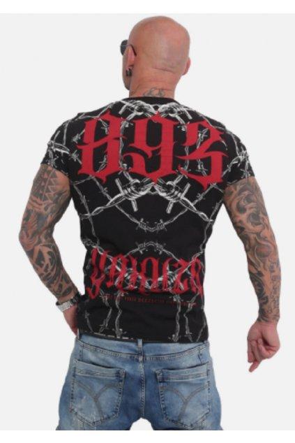 Pánské triko Yakuza Barbwire TSB 16023 Black obr1