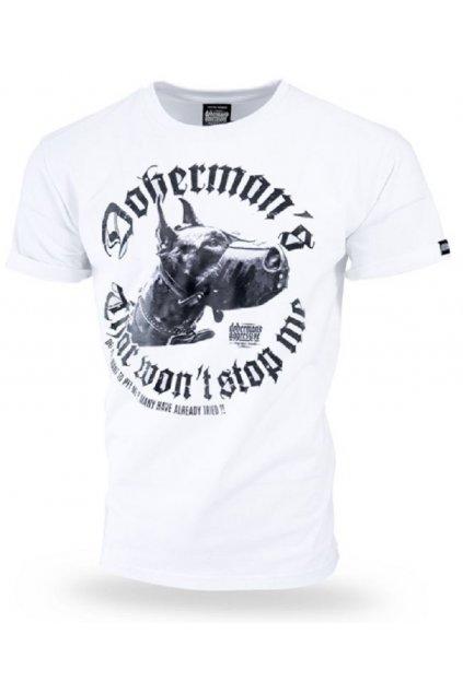 Dobermans Aggressive triko DDANGEROUS DOG bílá obr1