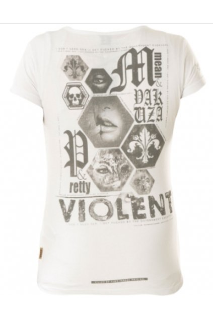 Dámské triko Yakuza Violent V GSB 12117 White obr1