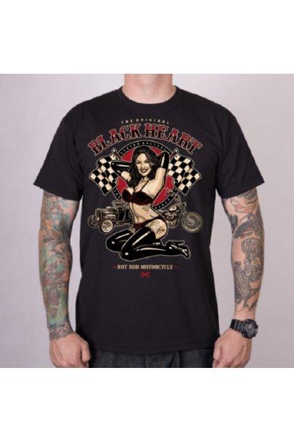 Pánské triko Black Heart PIN UP RACE přední strana