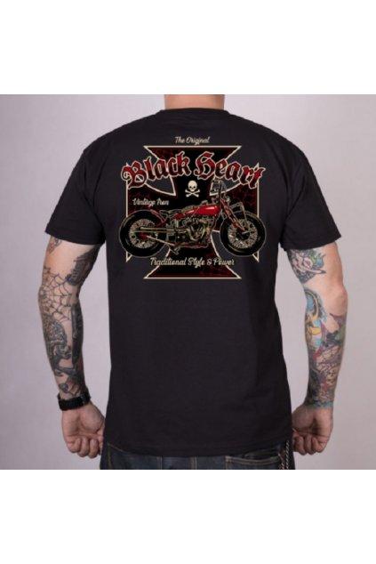 Pánské triko Black Heart VINTAGE IRON přední strana