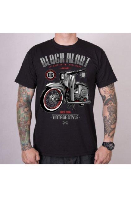 Pánské triko Black Heart VINTAGE STYLE přední strana