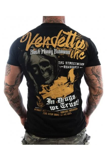 Pánské triko Vendetta We Trust 1118 černá obr1