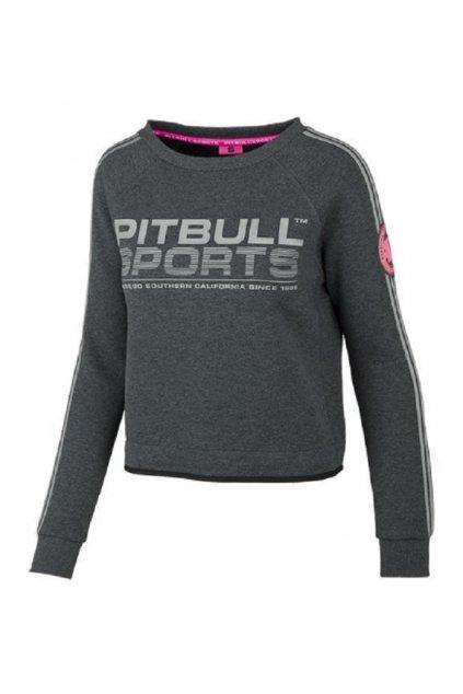 PitBull West Coast - dámská mikina PitBull ATHLETICA TMAVĚ ŠEDÁ obr1