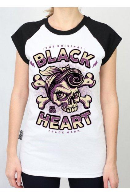 Dámské Triko BLACK HEART BETTY RIZZO přední strana