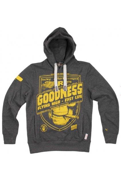 Pánská mikina Goodness Industries GN 0008 šedá obr1