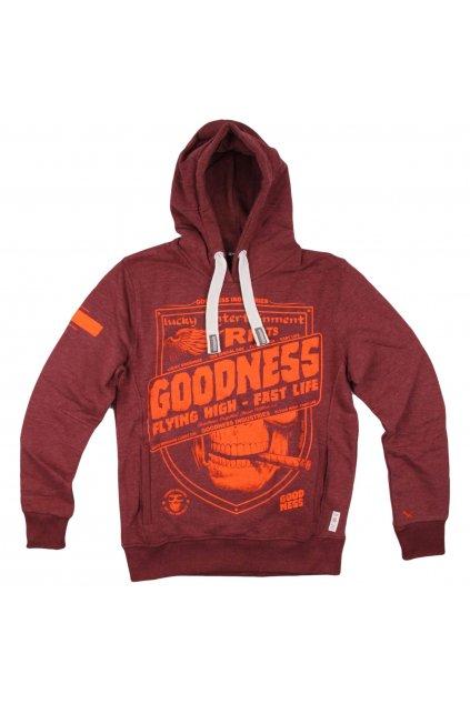 Pánská mikina Goodness Industries GN 0008 vintage vínová obr1