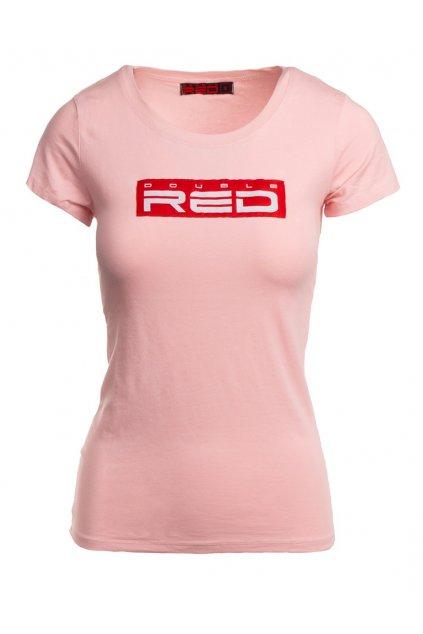 Dámské tričko DOUBLE RED Basic Pink obr1