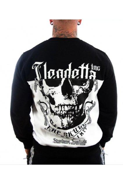 Pánská mikina Vendetta Inc Skull Limit černá a bílá 4015