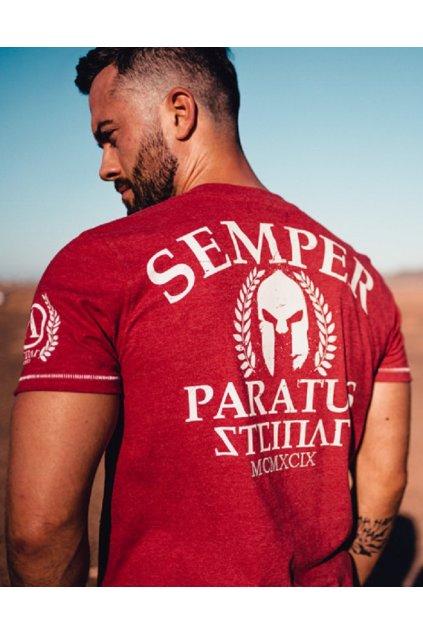 Thor Steinar pánské triko Semper Paratus 2 červená obr1