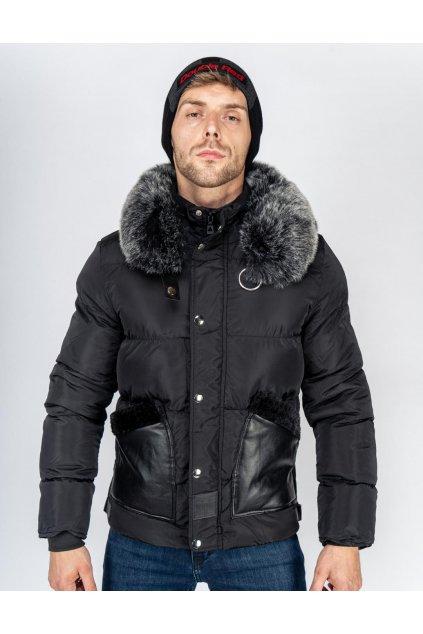 Pánská zimní bunda Double Red WRAITH Jacket Black obr1