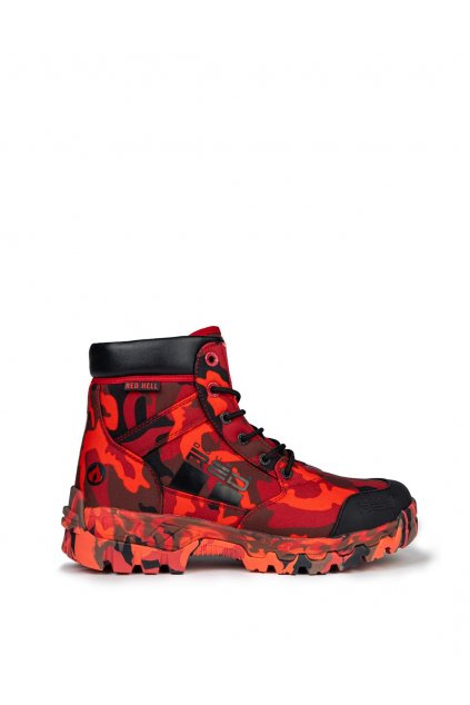 Double Red RED HELL FLAMMABLE Boots obr1