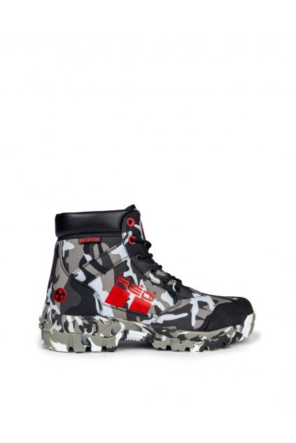 Double Red BW EDITION RADIOACTIVE Tactical Boots obr1