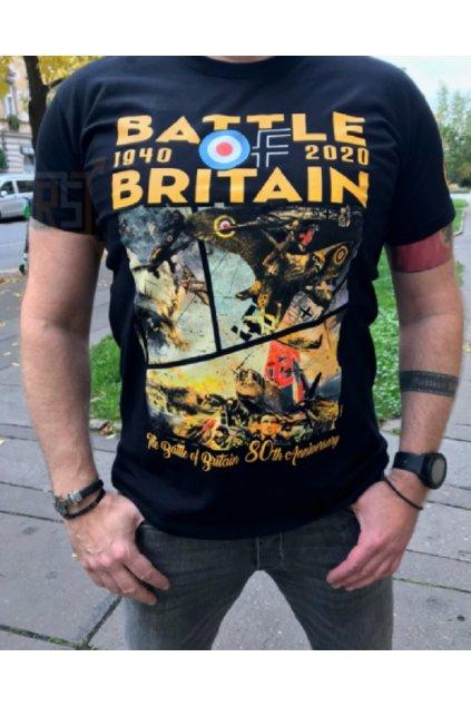 Pánské triko Bitva o Británii černá obr1