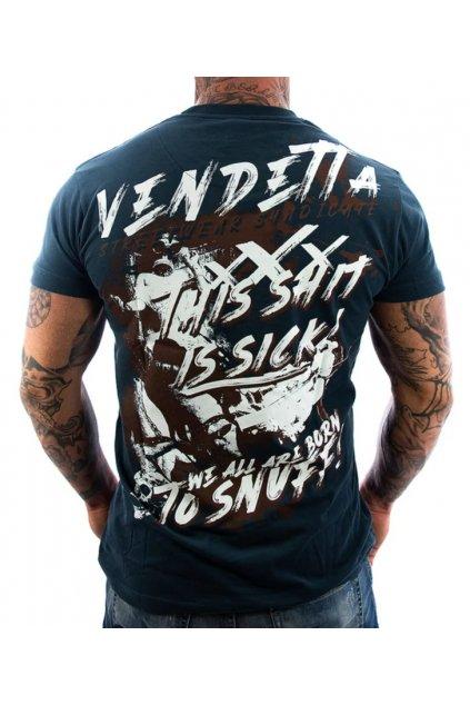 Pánské triko Vendetta Snuff Navy 1127 Navy obr1