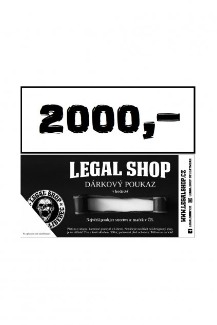 Dárkový poukaz - ELEKTRONICKÝ - 2000Kč obr1