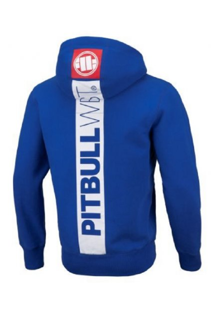 PitBull West Coast - mikina s kapucí HILLTOP 2 Royal Blue obr1