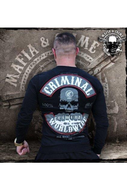 Mafia & Crime pánské triko s dlouhým rukávem MC Worldwide černá obr1