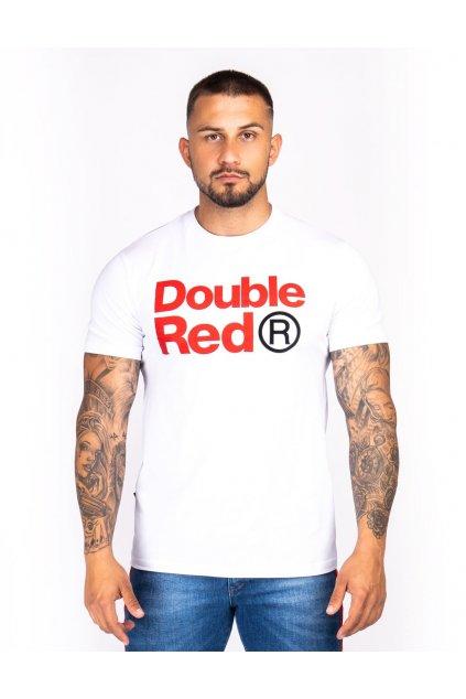 Pánské triko Double Red Trademark SLIM FIT bílá obr1