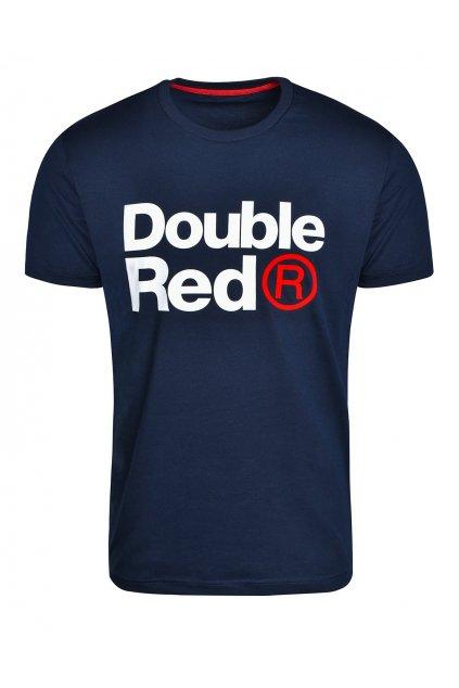 Pánské triko Double Red Trademark SLIM FIT modrá obr1