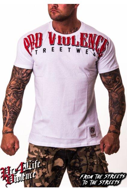 Pánské triko Pro Violence LETTERN 2018 Bílé obr1
