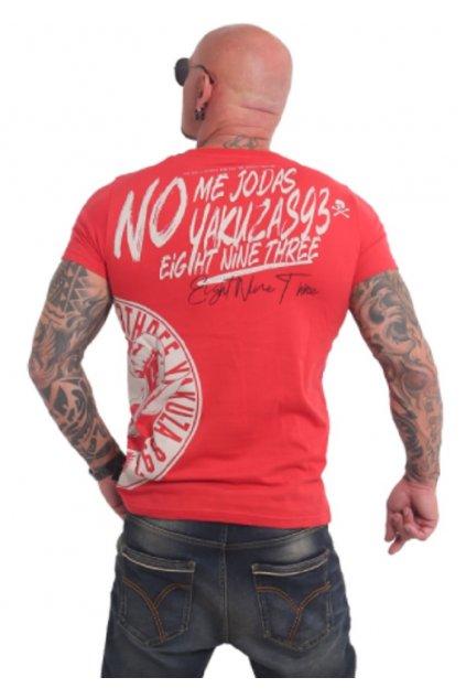 Pánské triko Yakuza Jodas TSB 17024 Ribbon Red obr1